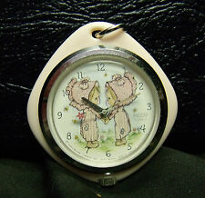 Sample 1972 Betsey Clark Hallmark Pendant Watch Does Not Work Marked Sample Back