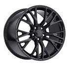C7 Zo6 Corvette 18x12 Black Gloss Wheels Two