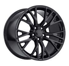 ZO6  Corvette C7 Stingray 18x12 18x9.5 Black Gloss Wheels
