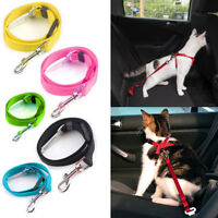 Cat Seat Belt Adjustable Length Pet Car Restraint Safety Lead Clip Harness Safe