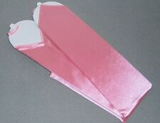 NEW! X-Long PINK Satin FINGERLESS Nylon GLOVES ~ One Size ~ 18""