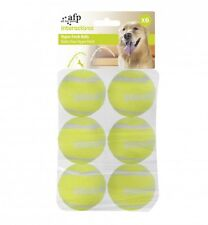 All For Paws AFP Dog Puppy Hyper Fetch Super Bounce Tennis Balls Refill 6pcs
