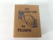 PAQUET cigarette SEITA TROUPE 1945 WW2 TOBACCO PLEIN ANCIEN TABAC casque adrian