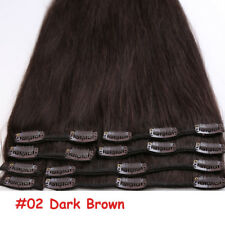 US Remy Clip in Human Hair Extensions 100% Real Long Hair Straight Any Color B58