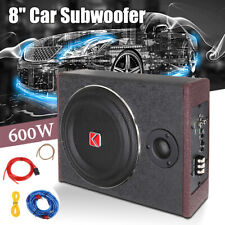 KUERLE 8'' 600W Active Under Seat Car Subwoofer Audio Speaker Stereo Powere