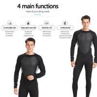Mens 3mm Neoprene Wetsuit Diving Suit Winter Warm Snorkeling Swimming Surfing