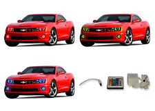 LED Headlight Fog Halo Ring Multi-Color IR Kit for Chevrolet Camaro 10-13