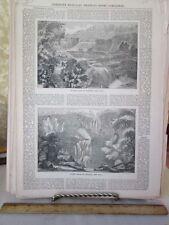 Vintage Print,WATER FALLS,Trenton+Catshill,New York,1850s