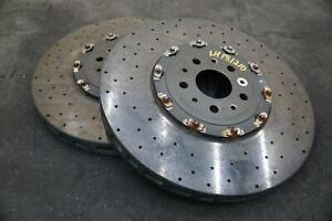Set of 2 Rear Disc Brake Rotor 296894 OEM Ferrari FF GTC4Lusso T
