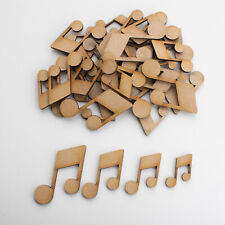 Wooden MDF Shapes Crafts Music note Scrapbook Embellishments Card Decoration