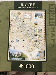 Explorer Maps Banff Canada National Park Puzzle , 1000 Piece