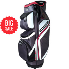 New listing NEW Naples Bay Golf Z973 Cart Bag 14-Way Top - Charcoal / White / Red