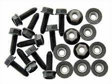 Toyota Flange Head Bolts & Barbed Nuts- M6mm x 20mm- 10mm Hex- Qty.10 ea.- #126