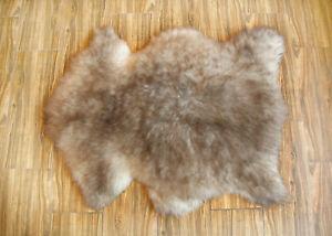 "Natural SHEEPSKIN Fur Rug, Genuine  Brown Fur, 24"" x 36"""