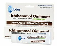 Ichthammol Ointment 20%, (Drawing Salve) 1oz Tube (28.3g) Pharmaceutical Grade**