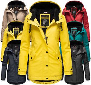 Navahoo Damen Herbst Winter Jacke  Regen FVS2 Outdoor Regen mantel Parka Lindraa