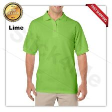 Gildan DryBlend Mens Polo GOLF Sport Shirt Jersey T-Shirt 8800 NWOT Size S-5XL