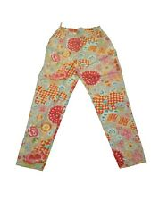 New Oilily Floral Asian Cotton Ladies Women's Vintage Lined Pants Size 42 12