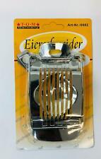 1x Eierschneider aus Edelstahl Eierteiler egg slicer  metal Eierportionierer