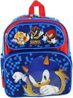 "Sonic The Hedgehog Boys Toddler School Backpack Book Bag 12"" Kids Toy Gift SEGA"