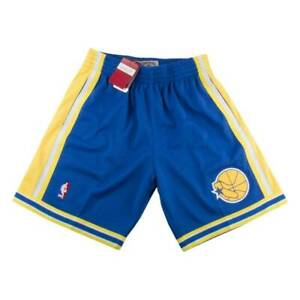 Men's Mitchell & Ness NBA Retro 95-96 Golden State Warriors Shorts [GSWQPV/ XS]