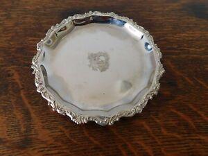 Vintage silver plated wine bottle coaster
