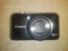 Canon PowerShot SX230 HS 12.1MP Digital Camera - Black W/ Charger & 4gb SD Card