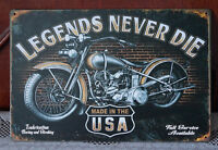 Motor Metal Tin Signs Plate Art Poster Wall Bar decor