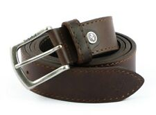 Belt in Real Leather Timberland M4365 Brown 968 Made in Italy