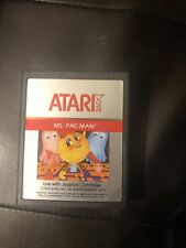 Ms. Pac-Man (Atari 2600, 1982) Tested Works Very Clean Cart Authentic
