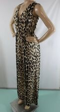 NEW WOMEN'S VENUS SLEEVELESS JUMPSUIT SIZE S LEOPARD V NECK SEXI ANIMAL PRINT