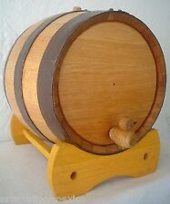20 Liter White Oak Barrel Cask Keg THICKEST WOOD Compare at 9 lb Shipping Weight