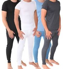 Mens Thermal Long Johns Short Sleeve T-Shirts Winter Warm Thermal Underwear Set