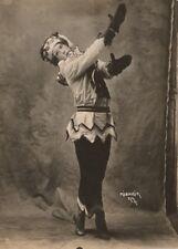 Nijinsky in title role of 'Petrouchka' in 1911, Vintage Ballet Poster