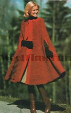 Vintage Crochet Pattern/instructions Lady's Cape/Coat/Cloak. Knitted edging.