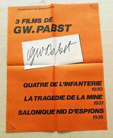 Cinema Plakat 3 Folien  Ke  Au  To  Mat GW Pabst Fin Des Annees 70