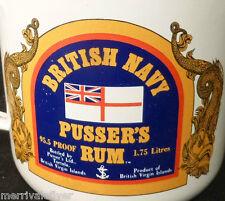 Pussers Rum Vintage British Navy Enameled Mug Cup St John Royal VIRGIN ISLANDS