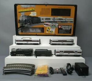 MTH 30-4087-0 PRR RailKing 6-8-6 Bantam Turbine O Gauge Steam Train Set w/LS EX