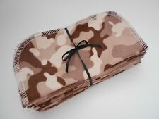 """Cloth Wipes 20 Baby Flannel 8""""x8"""" Boy Camo Camouflage Brown Family Tissue Napkin"""