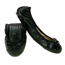 Butterfly Twists Victoria Wonens Vegan Foldable Fold up Ballet PUMPS Size 4-8 Black / Croc UK 4 / EU 37 / US 6