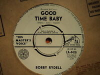 "Bobby Rydell ""Good Time Baby"" Terrific HMV Oz 7"""