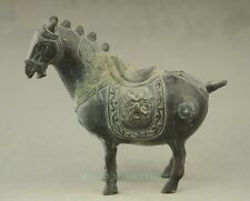 China antique hand engraving bronze horse statue collectible NR