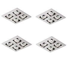 Lot of 4, Halolite 12V MR16 Aluminium Adjustable Quad Halogen Spot Light.