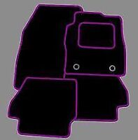 MINI COUNTRYMAN TAILORED FLOOR CAR MATS CARPET BLACK MAT PURPLE TRIM