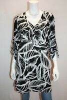 New Cover Brand Black White Floral Long Sleeve Shirt Dress Size 10 BNWT #RG20