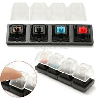Keyboard Tester Kit Clear Keycaps Plastic 4 Key Switches Sampler for Cherry MX