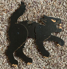 Antique Small Articulated Black Cat Halloween