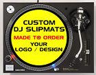 Custom slipmats for DJs / Turntables - Your logo or design - (Single or Pair)
