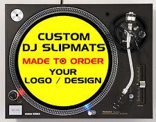 Custom slipmats for DJs / Turntables / decks with your logo / design - (Pair)