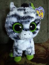 """Ty Beanie Boos ~ ZIG-ZAG 6"""" Zebra 2011 SOLID EYES NEW TAGS NWT"""